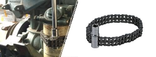 套筒式双链条滤芯拆装扳手